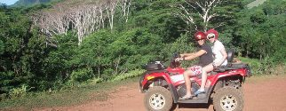 ATV quad tour on moorea island