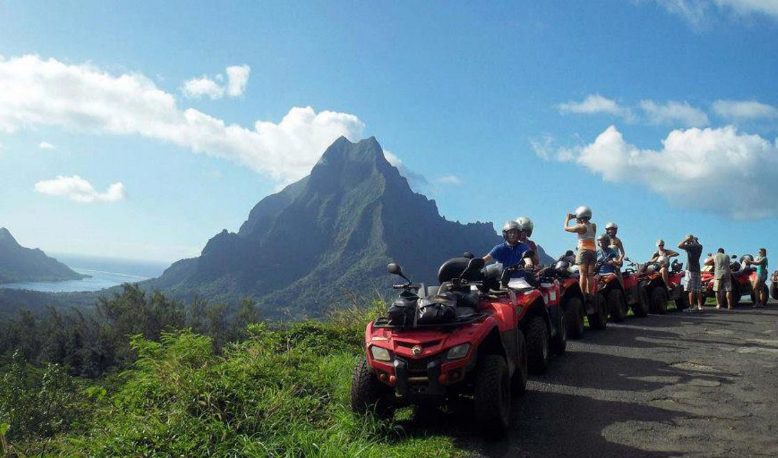 view point during atv quad tour in Moorea French Polynesia for your next holiday