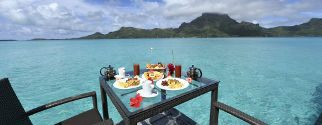 canoe breakfast on bora bora island