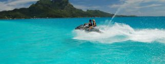 combo jet ski tour + lunch bloody mary + safari shark and ray tour on bora bora island
