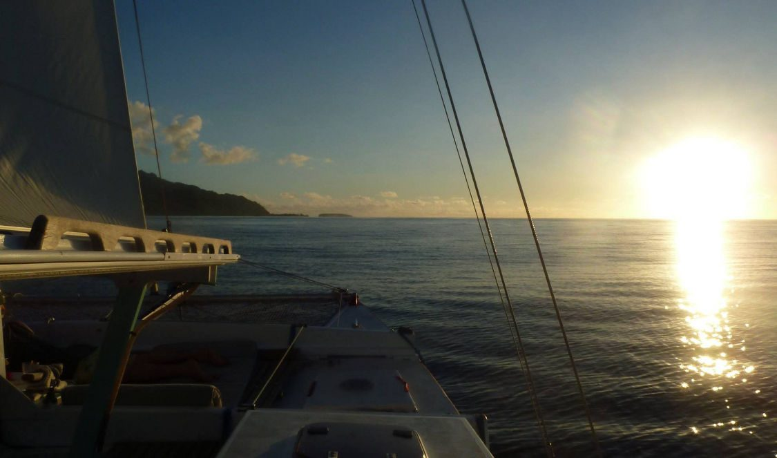 cruising at sunset in moorea sunset cruise voila during a vacation
