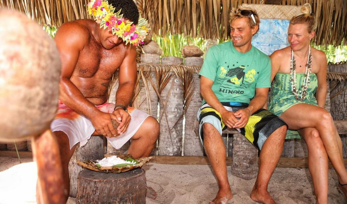 learn to prepate tahitian raw fish with coconut milk during your vacation in bora bora