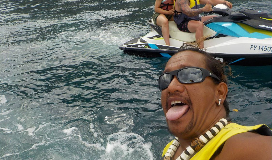 local crazy guide on jetski tour in moorea during your vacation