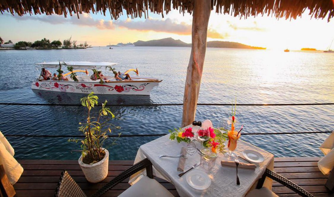 private sunset cruise and romantic dinner in bora bora lagoon during your vacation