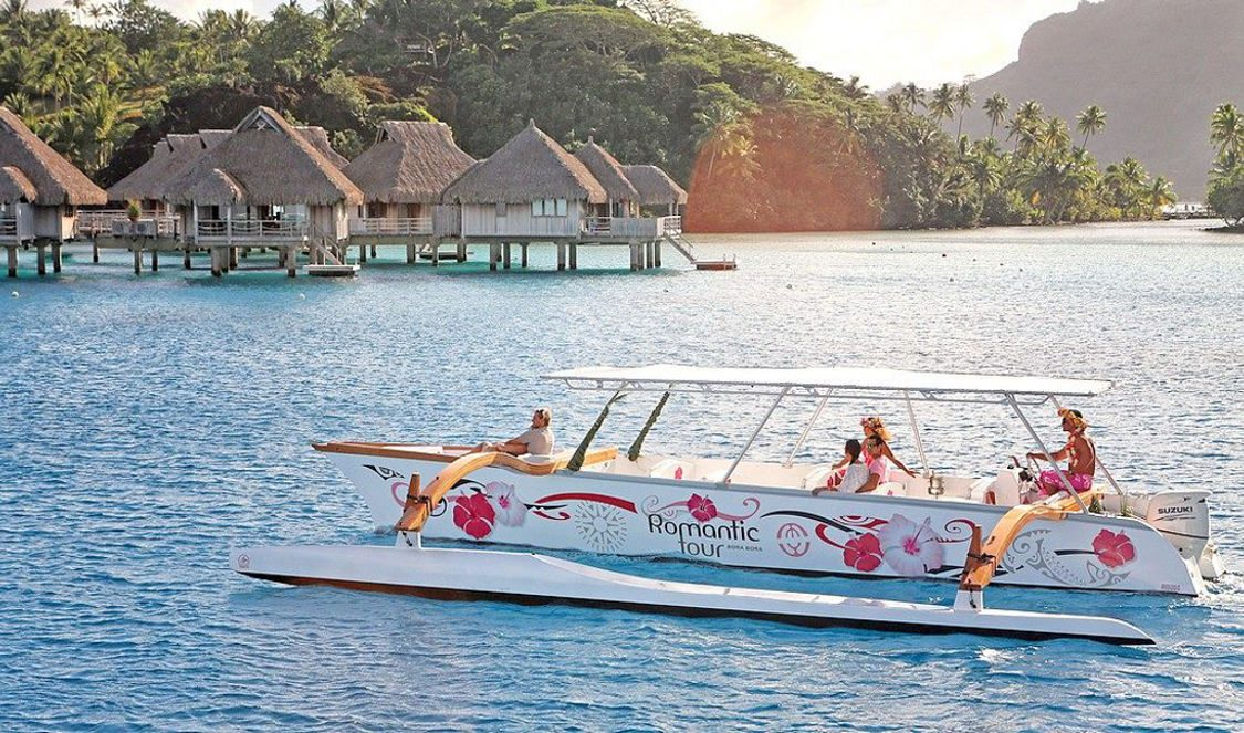 sunset cruise in bora bora lagoon during your vacation
