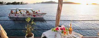 romantic sunset tour by boat plus dinner at villa mahana tour hotel bora bora package