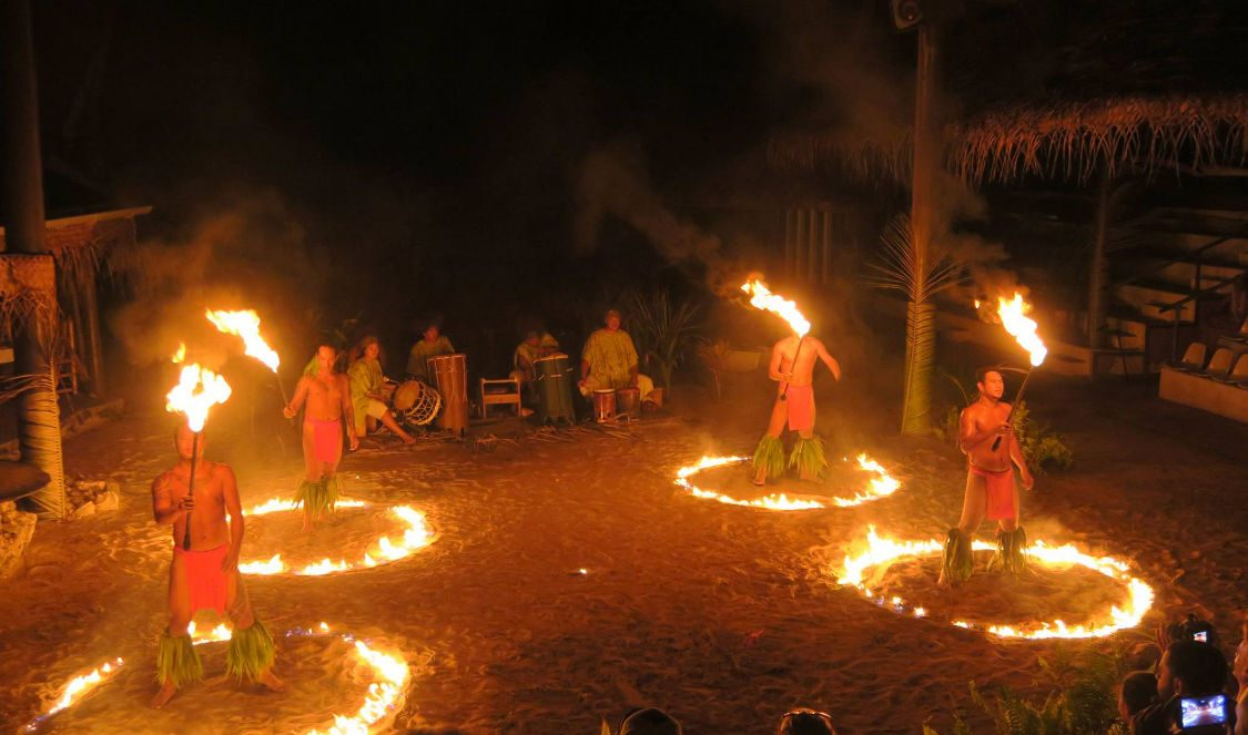 tahitian fire dance show in Moorea during your vacation
