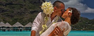 traditional wedding ceremony at le Meridien Bora Bora on bora bora island